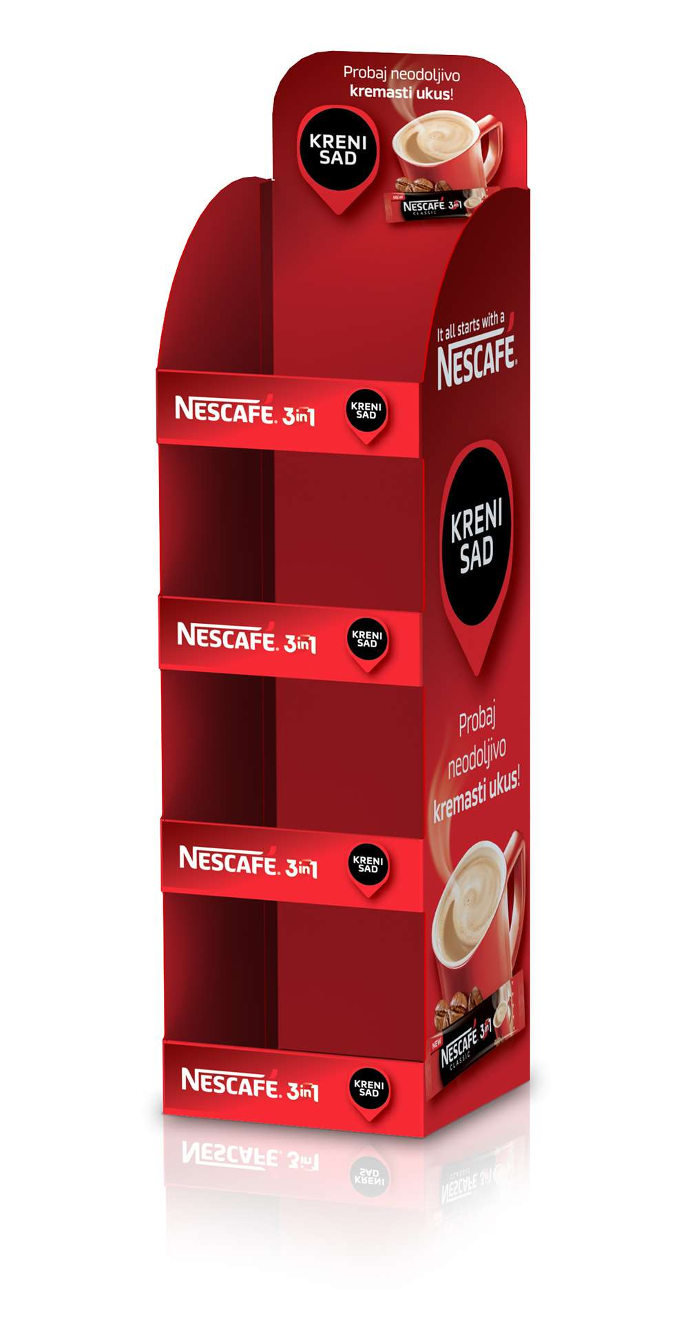Nescafe hanging parasite unit